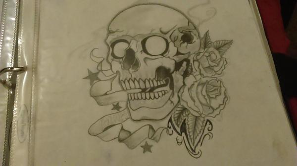 skull by lilblueink
