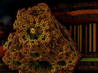 Sculpted Rock for my fractal Metropolis by PhotoComix2