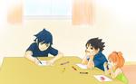SasuSaku Family : drawing birthday cards