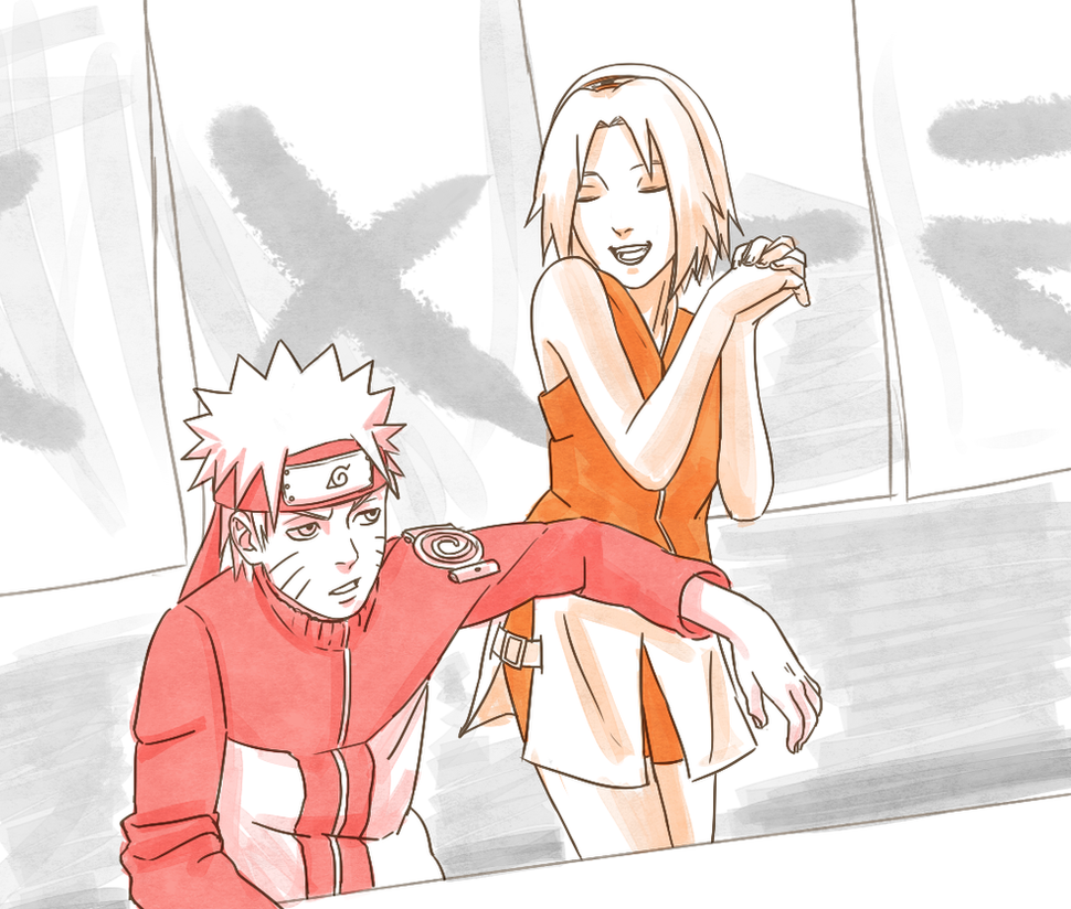 Naruto and Sakura swap by steampunkskulls