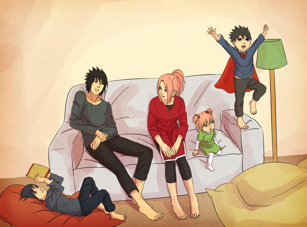 sasusaku family_2 by steampunkskulls on DeviantArt