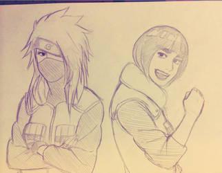 genderbent Kakashi and Gai by steampunkskulls