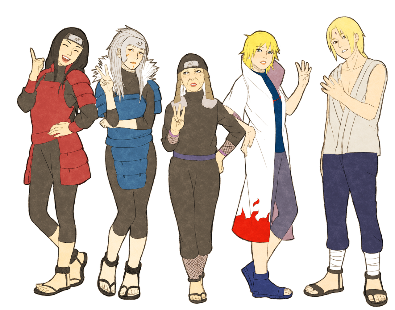 genderbent hokages by steampunkskulls