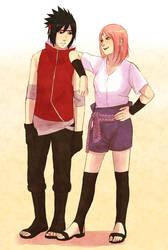 SasuSaku swap clothes