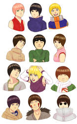 Bowl cuts (Konoha 12) by steampunkskulls