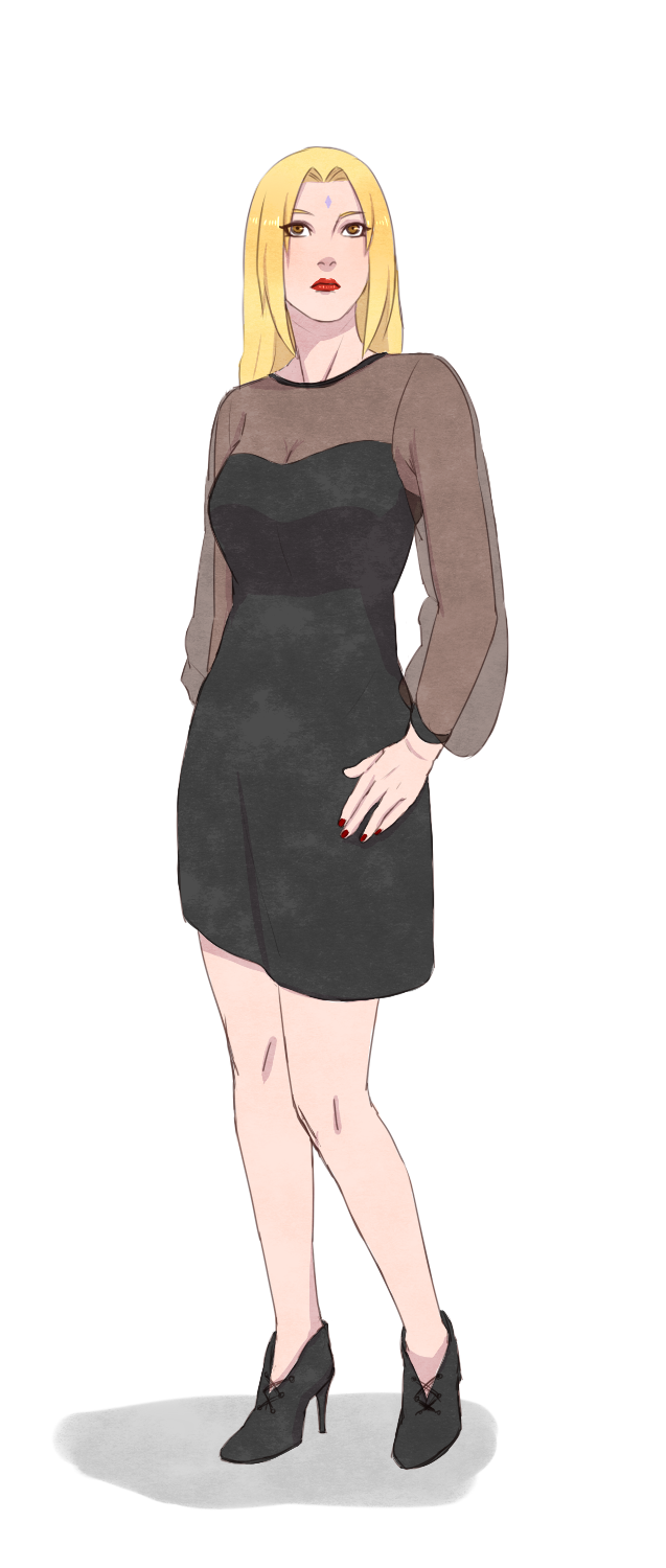 Tsunade with Fiona Goode's outfit by steampunkskulls