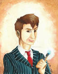 Tenth Doctor in Paint