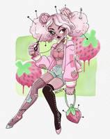 Strawberry Pincushion by Nokiry