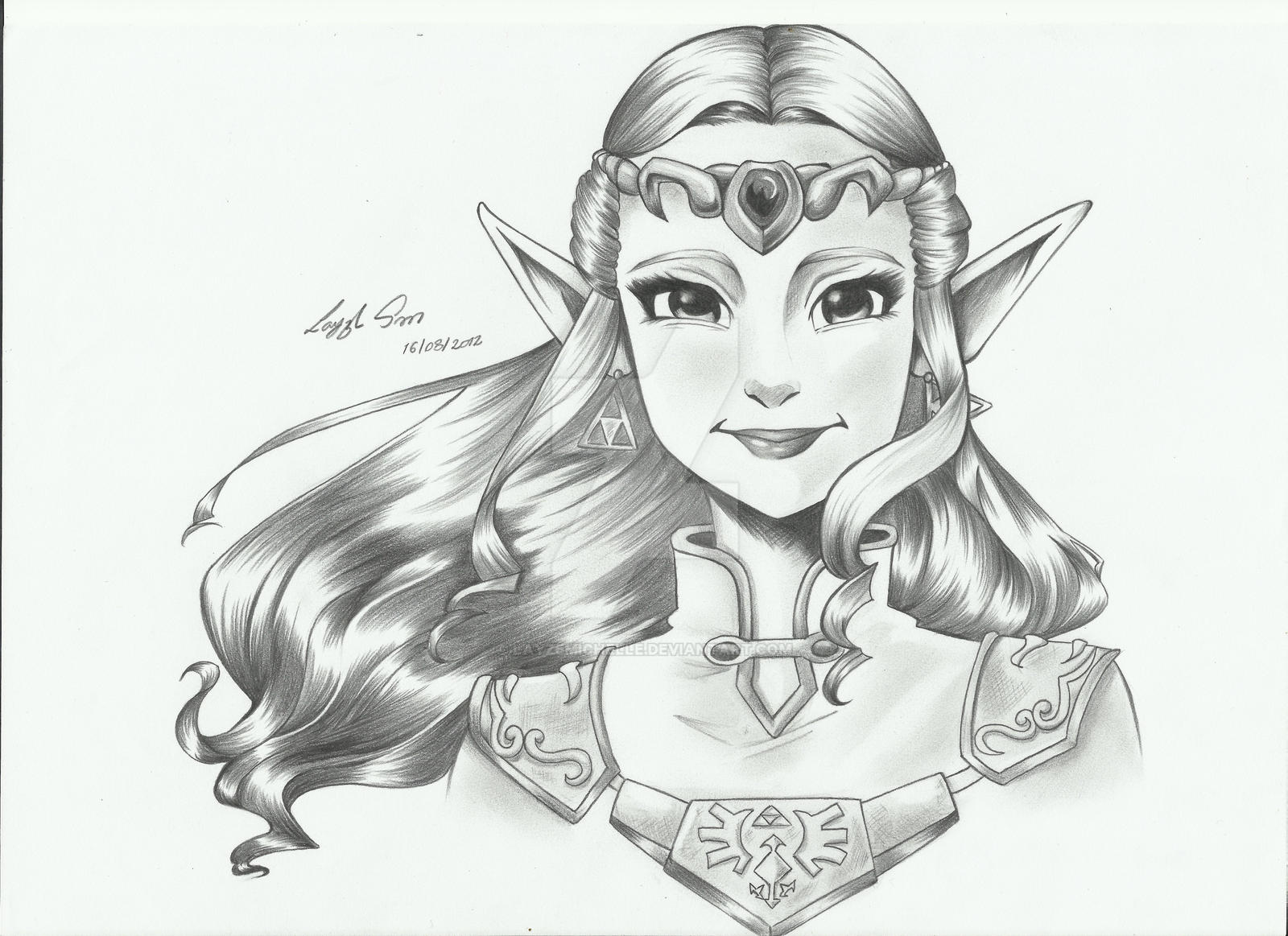 Zelda From Ocarina Of Time Drawing By Layzemichelle On