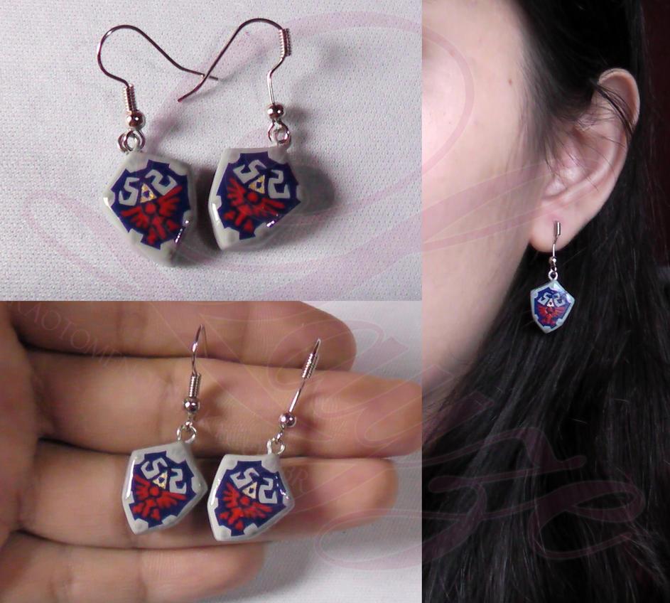 Hylian Shield earrings from TLOZ SS by LayzeMichelle