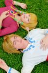 Zelda and Link Skyward Sword by LayzeMichelle