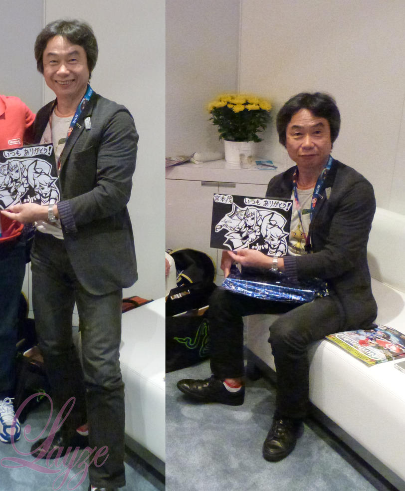 Shigeru Miyamoto and My Drawing!!2 by LayzeMichelle