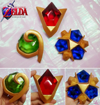 3 Spirit Stones from Ocarina of Time