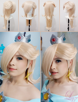 PROGRESS: Rosalina's Make up and Wig test by LayzeMichelle