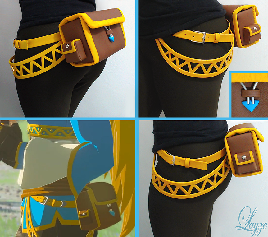 PROGRESS: Zelda's Pouch from Breath of the Wild by LayzeMichelle