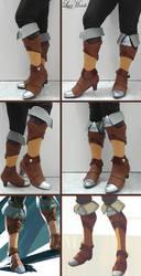 PROGRESS: Zeldas's Boots from Breath of the Wild by LayzeMichelle