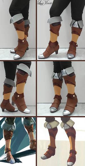PROGRESS: Zeldas's Boots from Breath of the Wild