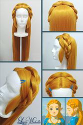 PROGRESS: Princess Zelda's Wig from BotW by LayzeMichelle
