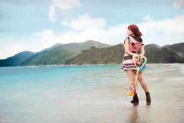 Kairi from Kingdom Hearts III - In the Beach by LayzeMichelle