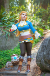 Zelda with Terrako! by LayzeMichelle