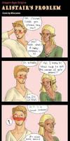 DA Comic - Alistair's problem by PetiteLilen
