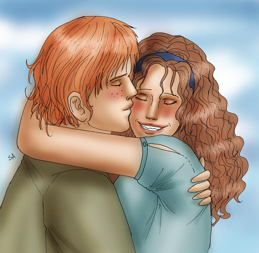 Ron and Hermione by PetiteLilen