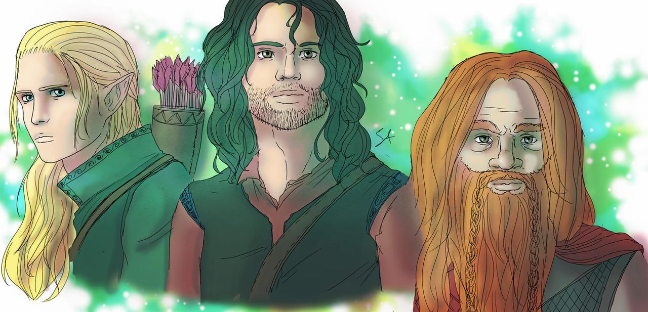 Heroes of Middle Earth by PetiteLilen