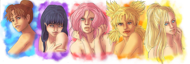 Naruto Girls by PetiteLilen
