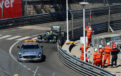Safety car at the 2013 Monaco Grand Prix