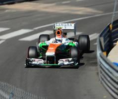 Force India during the F1 Monaco Grand Prix 2013