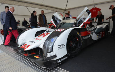 Battle scarred Audi R10 Le Mans Car
