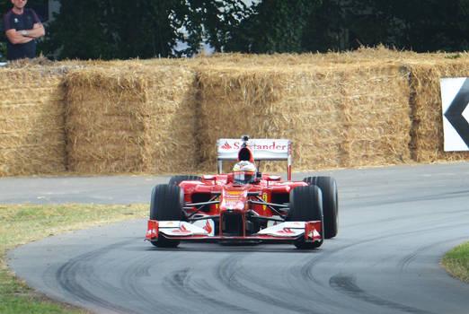 Ferrari F1 car at Goodwood 2014