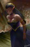 [C]: Sylvyana Silvanos, the Ghoul Queen by katrimav