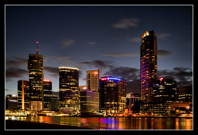 Brisbane By Night I by 2Stupid2Duck