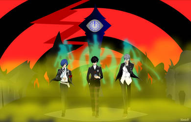 Persona protagonists by Sintell743