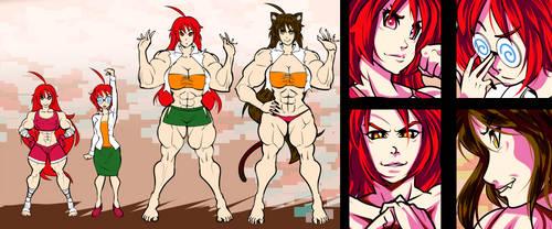 Chieko Nekotani Character Reference Sheet by kaisai134