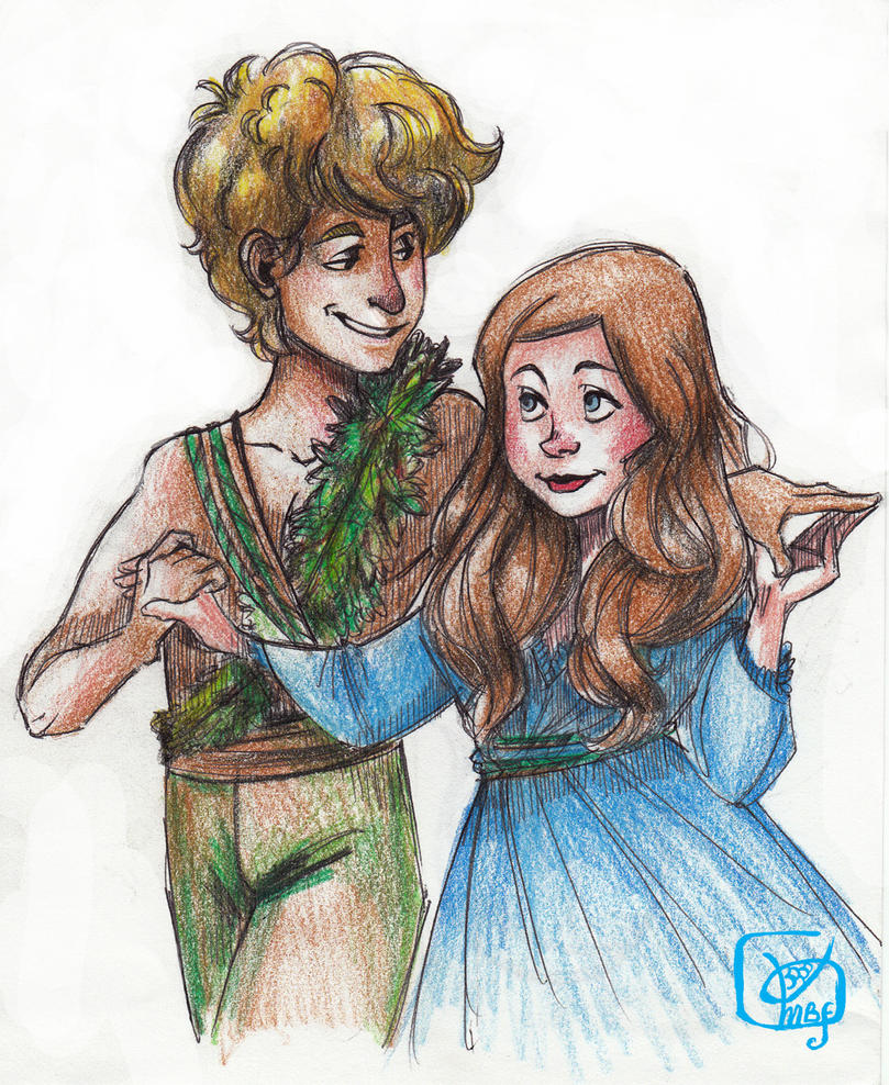 Peter Pan and Wendy by Microbluefish