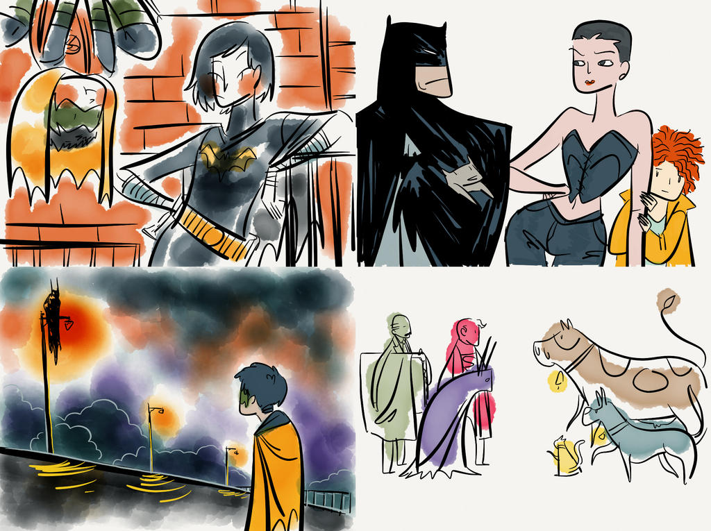 Batman Stuff Ipad Doodles by Microbluefish