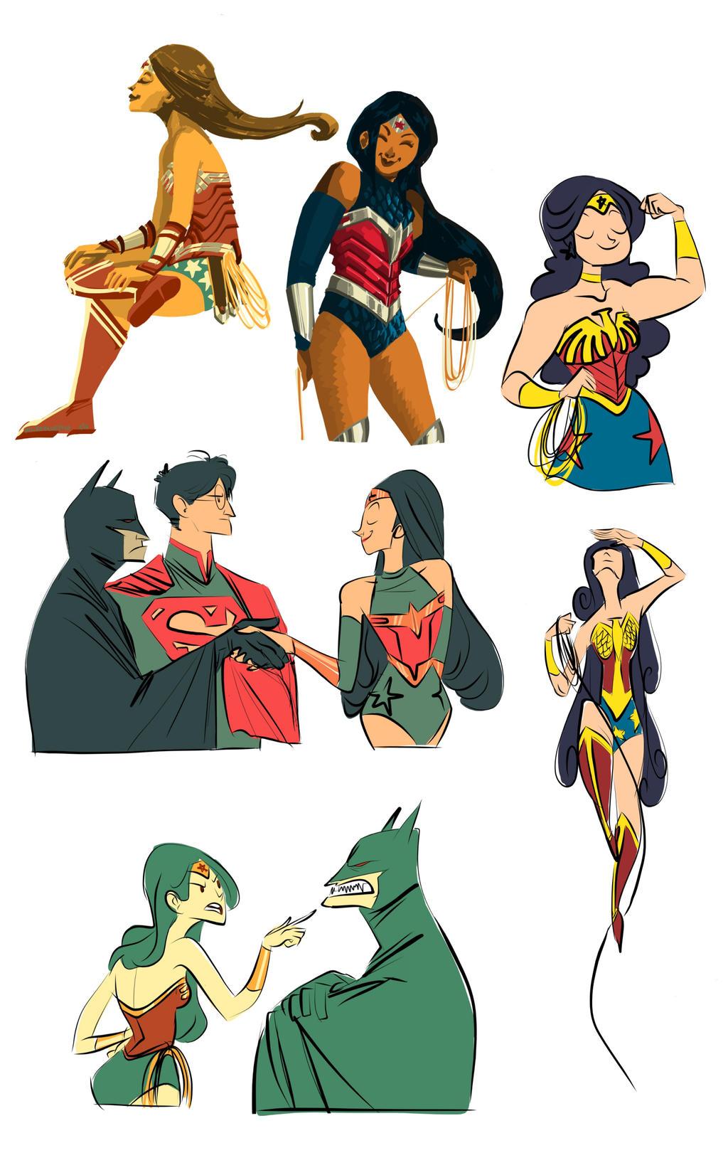 Wonder Woman by Microbluefish