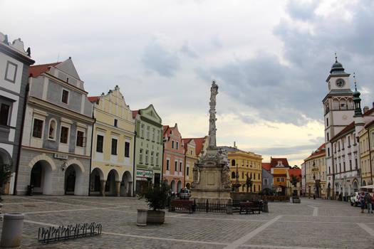 Trebon square at the morning