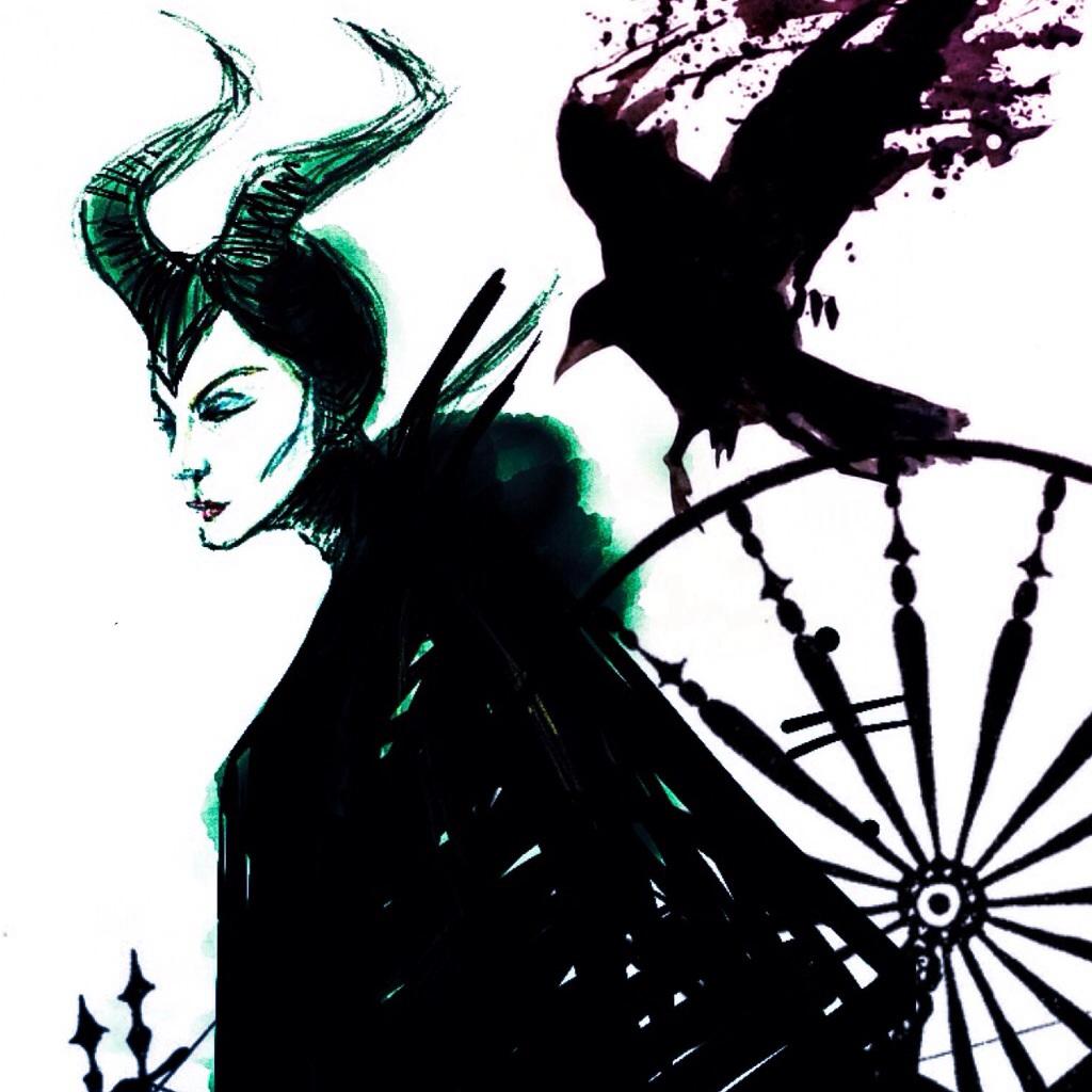 Maleficent and diablo - sketch by BriarsandThorns on DeviantArt