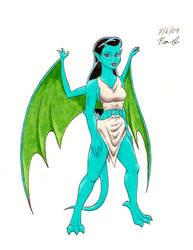 Gargoyle Lady 5 by DragonsLover1