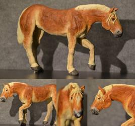 Haflinger sculpture commission.