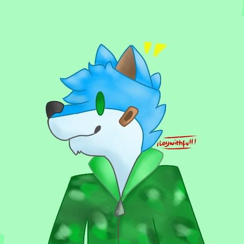Derpy Blue Doggo by Laywithfull