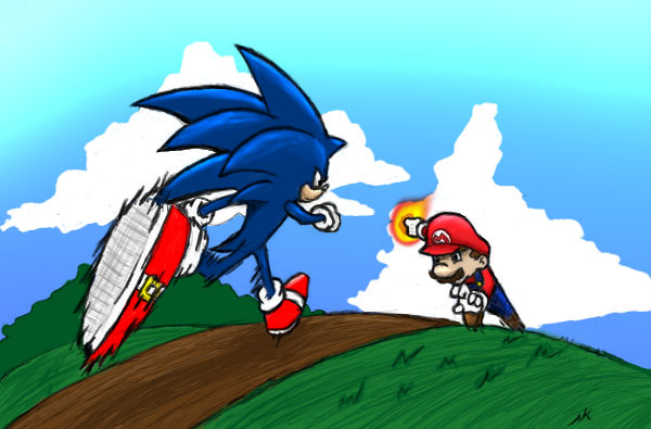 Limpurtikles Mario Colored: Sonic VS Mario Colored By Ssj4nivek On DeviantArt