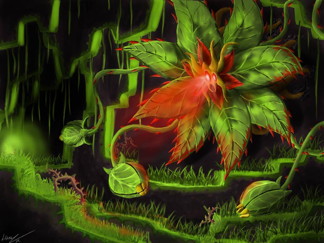 Terraria Boss Root Of Life By Hallowangel On Deviantart