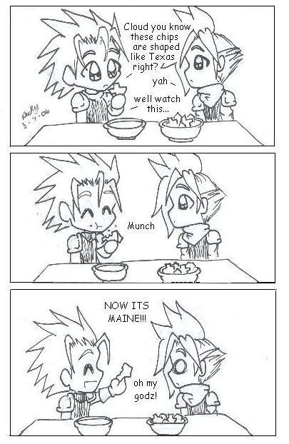 Zack and Cloud nacho comic by Ninja-Chic on DeviantArt