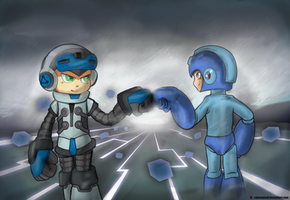 Beck and Rock Brofist by ValorNomad