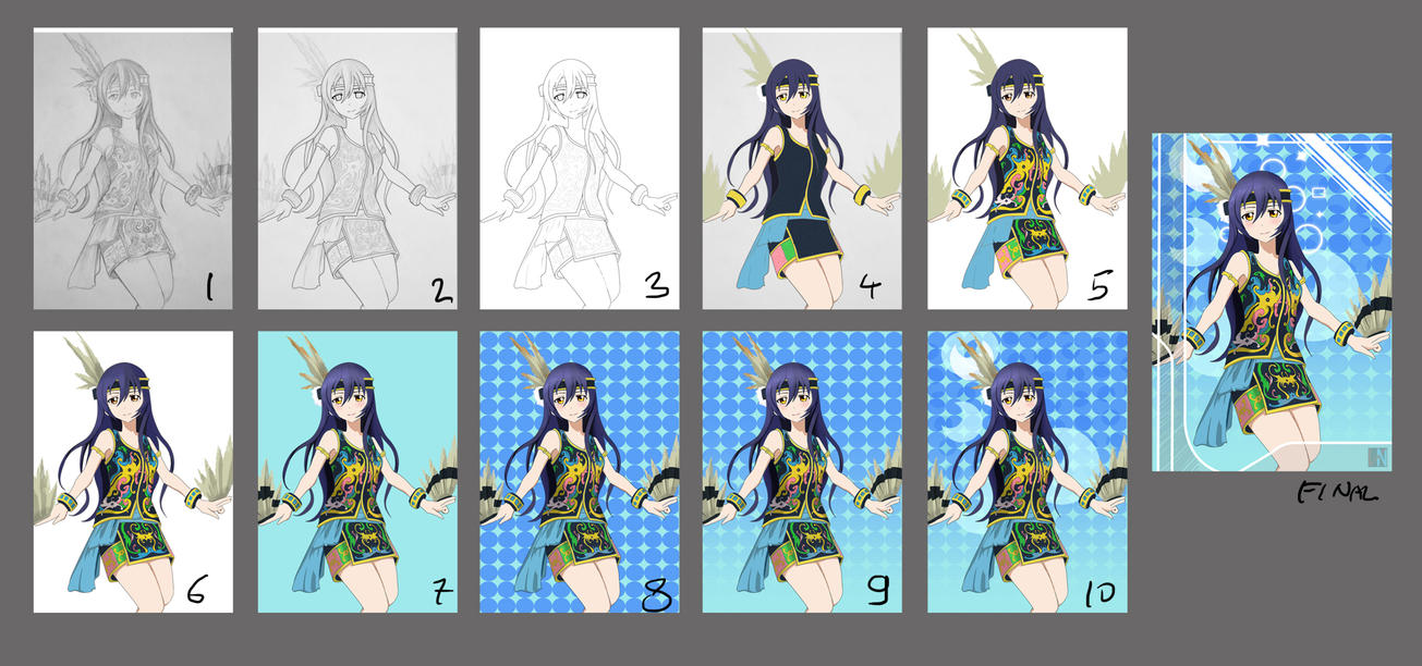 Umi-chan Dayak Costume Step By Step tutorial by ValorNomad