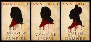 The Vampire Chronicles: Book Silhouettes by SimonPovey